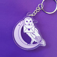 Load image into Gallery viewer, Owl Moon Acrylic Keychain
