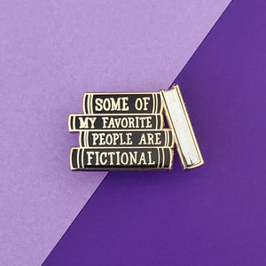 Favorite People Black & Gold Enamel Pin