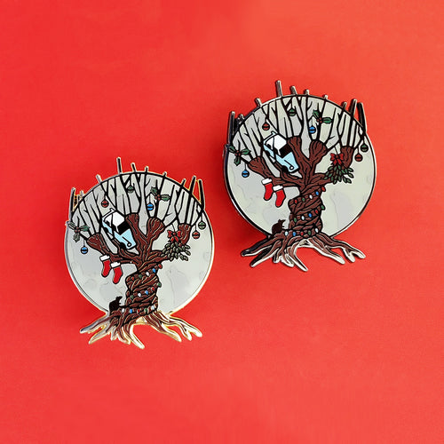 Festive Willow Enamel Pin