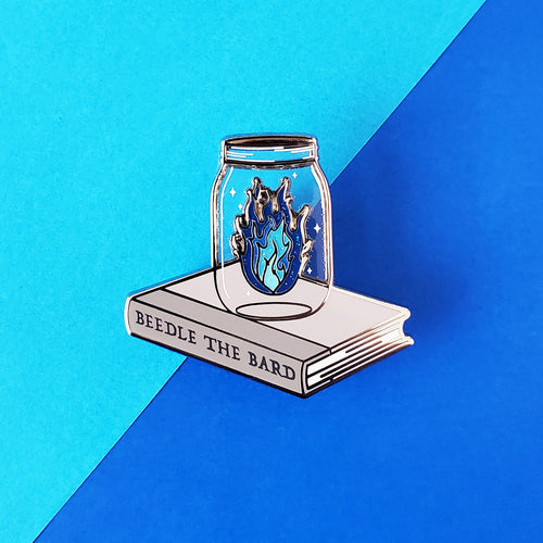 Blue Fire Enamel Pin