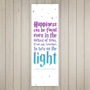 Happiness Can Be Found Even In The Darkest Of Times Printable Bookmarks (Gradient)