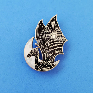 Flighty Temptress Gold Enamel Pin