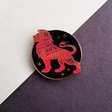 Load image into Gallery viewer, Lion House Pride Black Enamel Pin