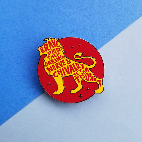 Lion House Pride Red Enamel Pin