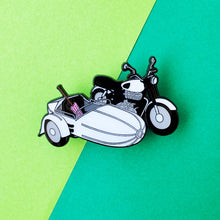 Load image into Gallery viewer, Flying Motorbike Enamel Pin