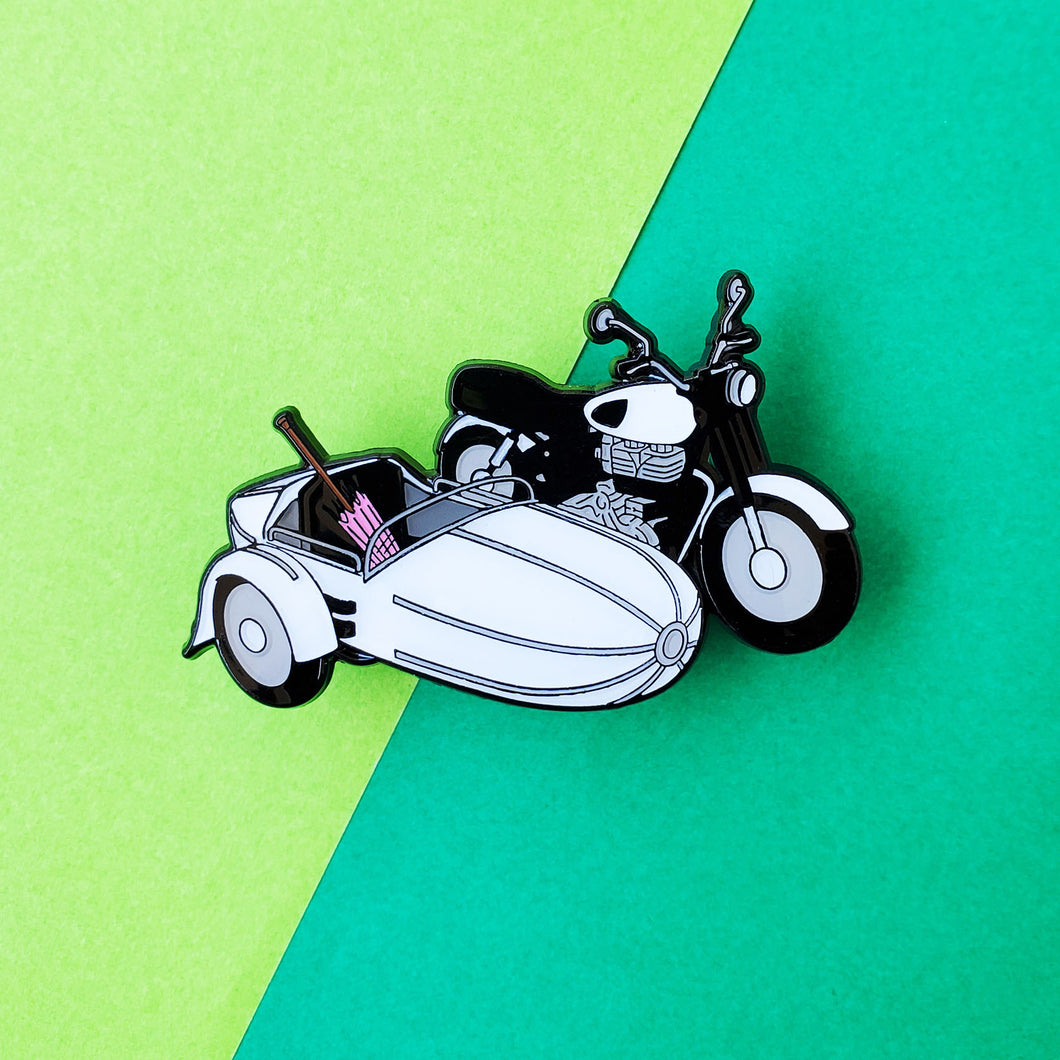 Flying Motorbike Enamel Pin