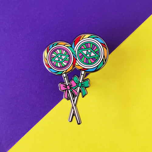 Sweet Shop Lollipops Enamel Pin