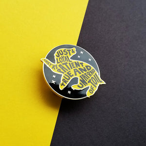 Badger House Pride Black Enamel Pin