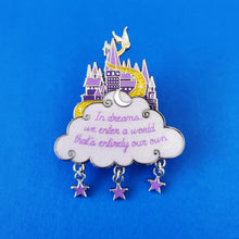 Load image into Gallery viewer, In Dreams Purple Enamel Pin