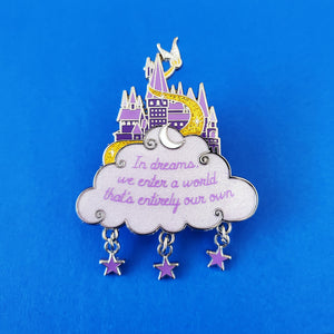 In Dreams Purple Enamel Pin
