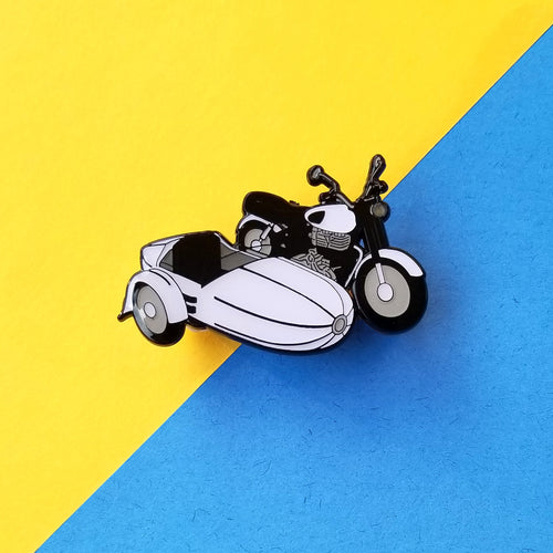 Flying Motorbike Light Up Enamel Pin