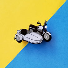 Load image into Gallery viewer, Flying Motorbike Light Up Enamel Pin