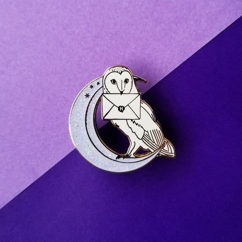 Owl Moon Enamel Pin