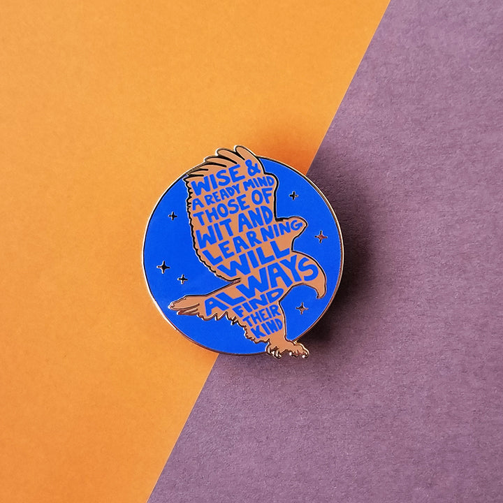 Eagle House Pride Blue Enamel Pin