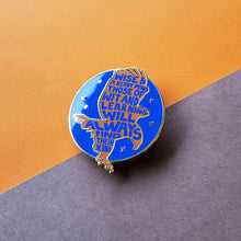Load image into Gallery viewer, Eagle House Pride Blue Enamel Pin