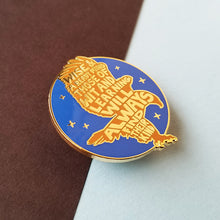 Load image into Gallery viewer, Eagle House Pride Gold Enamel Pin