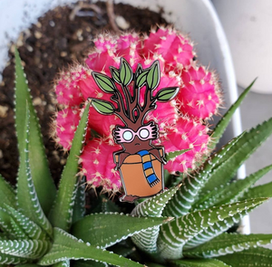 Magic Specs Potted Plant Enamel Pin