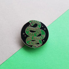 Load image into Gallery viewer, Snake House Pride Black Enamel Pin