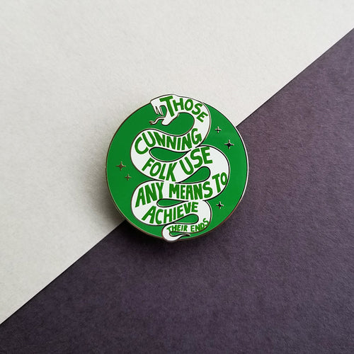 Snake House Pride Green Enamel Pin