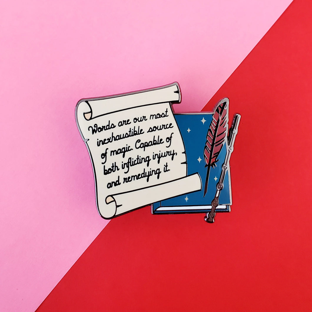 Words Are Enamel Pin
