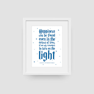 Happiness Can Be Found Even In The Darkest Of Times Digital Print (Navy)