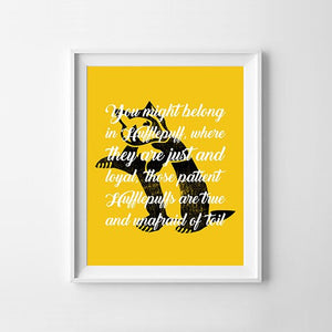 Badger House Magical Hat Quote Digital Art Print