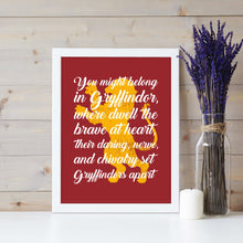 Load image into Gallery viewer, All 4 Sorting Hat Quotes Digital Art Prints (SAVE $8.00!)