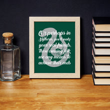 Load image into Gallery viewer, Slytherin Sorting Hat Quote Digital Art Print