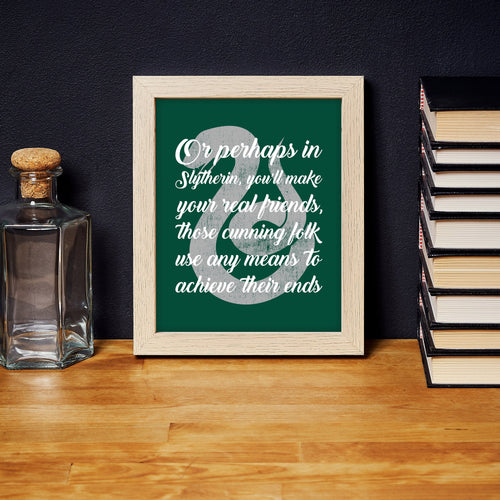 Slytherin Sorting Hat Quote Digital Art Print