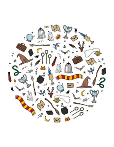 Wizarding Objects Digital Art Print