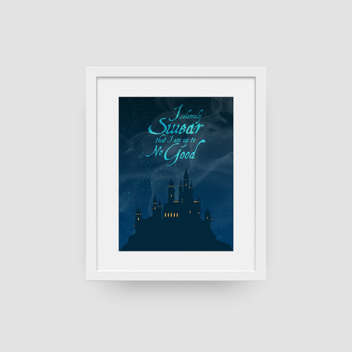 I Solemnly Swear That I Am Up To No Good Castle Digital Art Print
