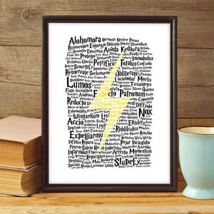 Magic Spells Lightning Bolt Digital Art Print
