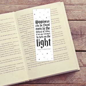 Happiness Printable Bookmarks (Black)