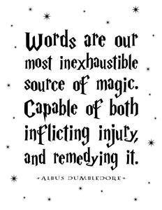 Words Are Our Most Inexhaustible Source Of Magic Digital Art Print
