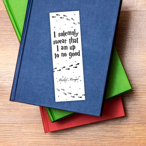 I Solemnly Swear That I Am Up To No Good Printable Bookmarks