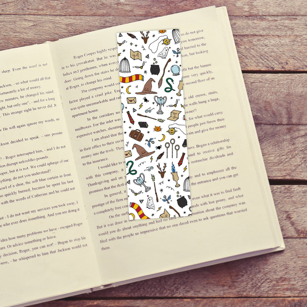 Wizarding Objects Printable Bookmarks
