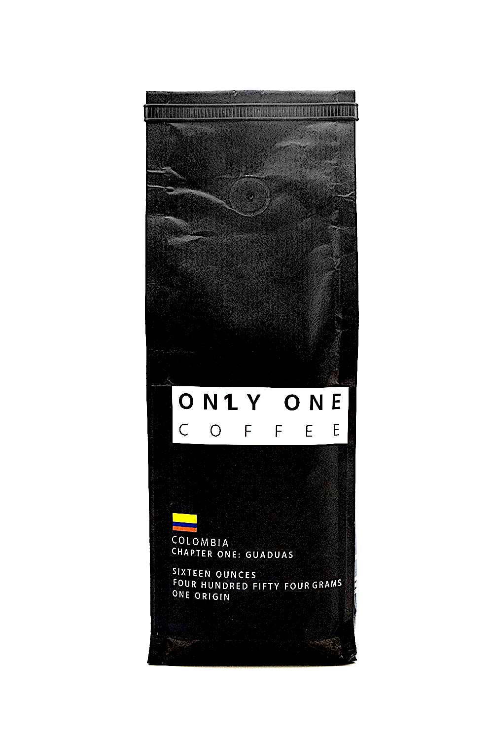 Only One Coffee ; Notes of chocolate and berries.