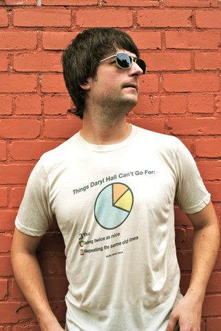 NEW Shipster- Things Daryl Hall Can't Go For Pie Chart Shirt