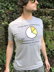 NEW Pie Chart Tee - Ash Gray