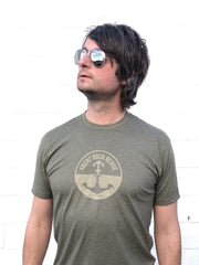 Yacht Rock Revue Logo Tee (Men's/Unisex)- Army Green