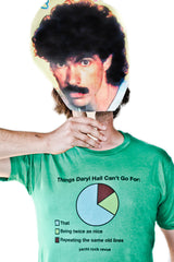 Things Daryl Hall Can't Go For Pie Chart Shirt- Green