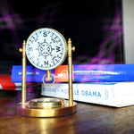 Vintage Table Clock with Compass - Koozi Life
