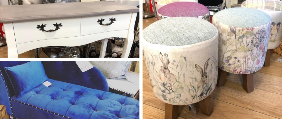 Interiors footstools, console tables, mirrors and more