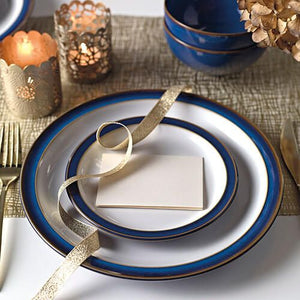 Denby Imperial Blue 4 Piece Dinner Plate Set
