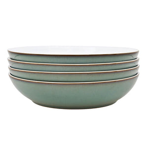 Denby Imperial Blue Green4 Piece Pasta Bowl Set