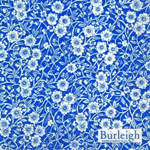 Calico Blue Burleigh floral luxury traditional paper table napkins x20