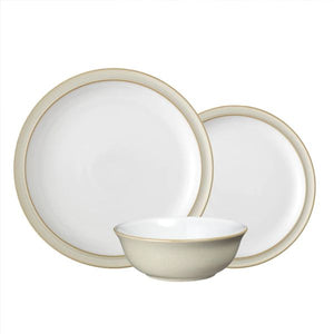 Denby Linen 12 Piece Dinner Set Boxed