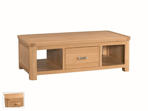 Curved Oak Large Coffee Table