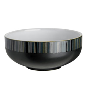 Denby Jet Stripes Soup Cereal Bowl
