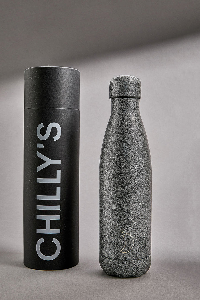 Chilly's Bottle Black Glitter Edition 500ml
